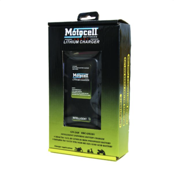 Motocell Lithium Ion MOTORCYCLE BATTERY CHARGER Australia