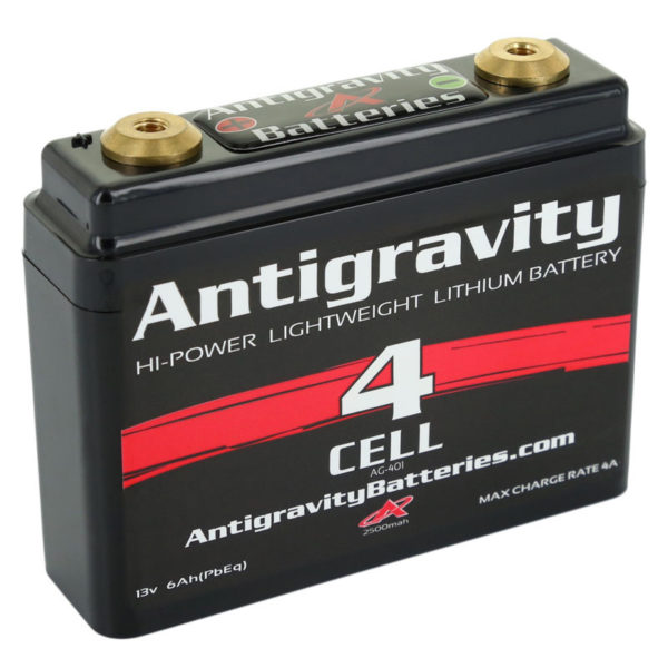 ANTIGRAVITY AG401 4-CELL SMALL CASE LITHIUM MOTORCYCLE BATTERY AUSTRALIA