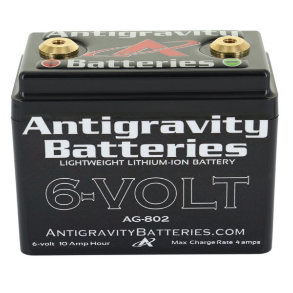ANTIGRAVITY AG802 8-CELL 6 VOLT SMALL CASE LITHIUM MOTORCYCLE BATTERY AUSTRALIA