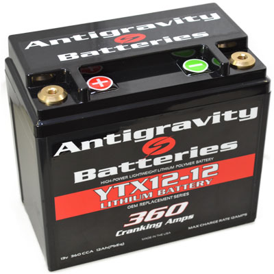 ANTIGRAVITY YTX12-12 360 CCA ANTIGRAVITY LITHIUM BATTERY AUSTRALIA