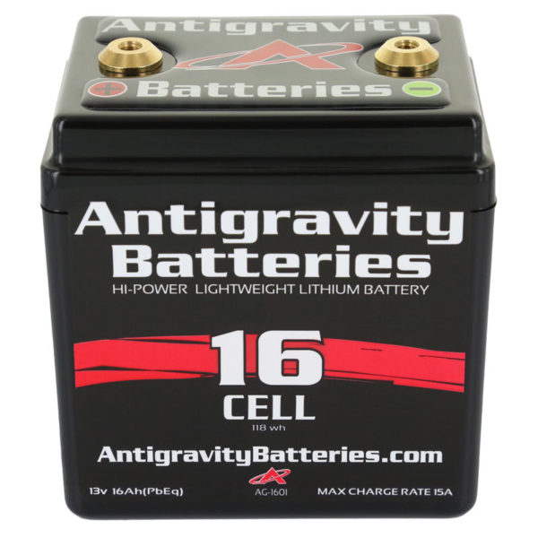ANTIGRAVITY AG1601 16-CELL SMALL CASE LITHIUM MOTORCYCLE BATTERY AUSTRALIA