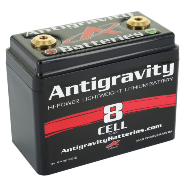 ANTIGRAVITY AG801 8-CELL SMALL CASE LITHIUM MOTORCYCLE BATTERY AUSTRALIA