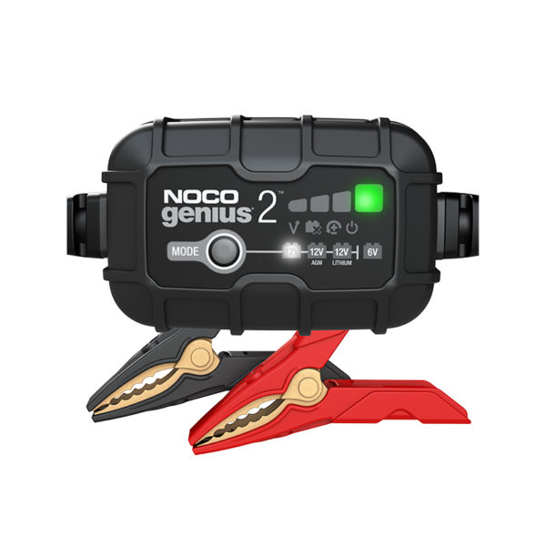 Noco Chargers Australia Lithium Battery Cgarger_0003_Genius2-Front-2A-Battery-Charger-And-Maintainer-For-Compact-Cars